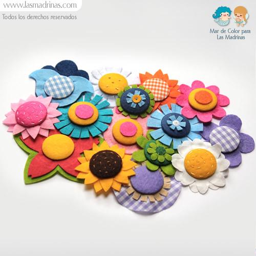 Broches de fieltro de flores detalles originales para - Detalles de fieltro ...