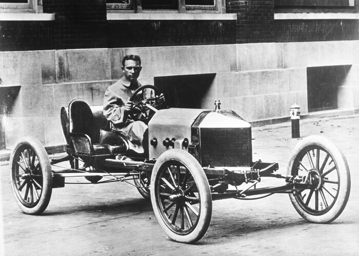 Frank Kulick In Ford Race Car About 1910 Thf80437 The