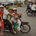 Vietnamese Family on Motorbike