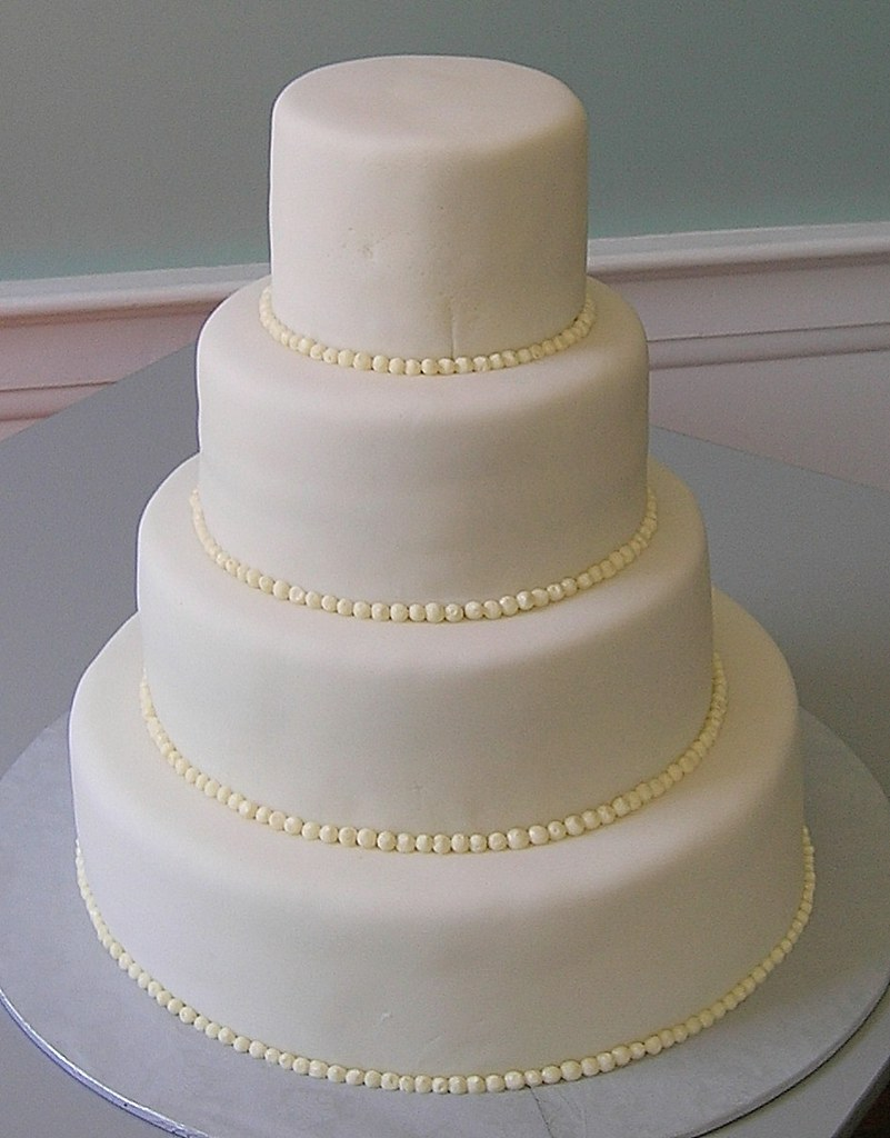Plain Two Tier Cake
