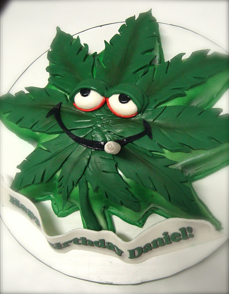 Funny Pot Leaf Cake Inspired By Some T Shirt Clip Art