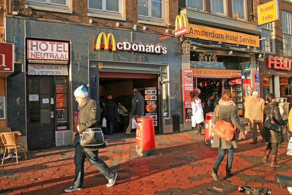 Mcdonald S Amsterdam Damrak 8 Netherlands One Of The