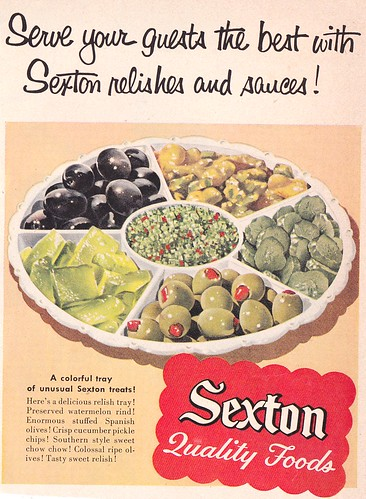 Sexton Quality Foods Relish Tray Ad 1956 | by hmdavid