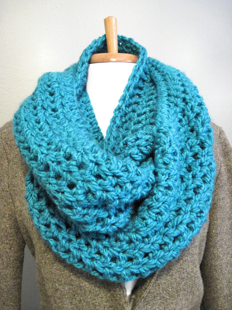 Bulky Double Wrap Cowl Double Wrap Chunky Crochet Cowl
