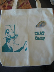 Stenciled Bag, THATCampLA Craft Cabin