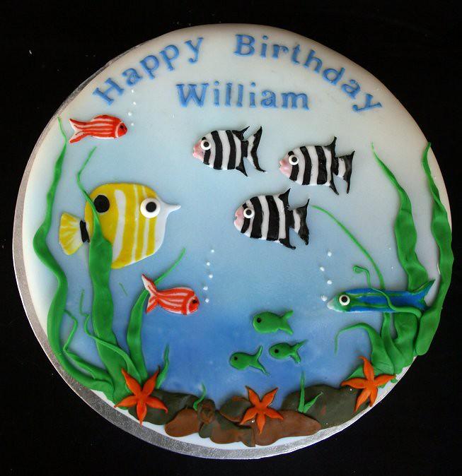 William S Aquarium Birthday Cake Catherine Thomas Flickr