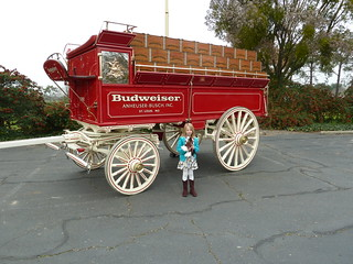 My daughter Alice in front of the wagon | by jbrookston