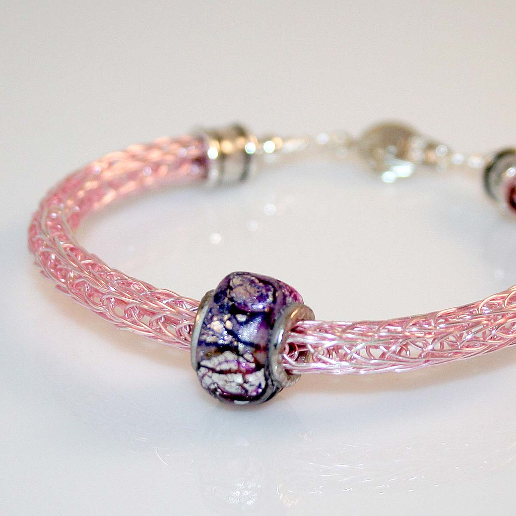 Knitting With Wire Patterns Free : Viking knit bracelet handcrafted by