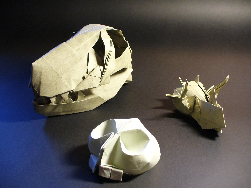 origami skulls some skulls folded by me the