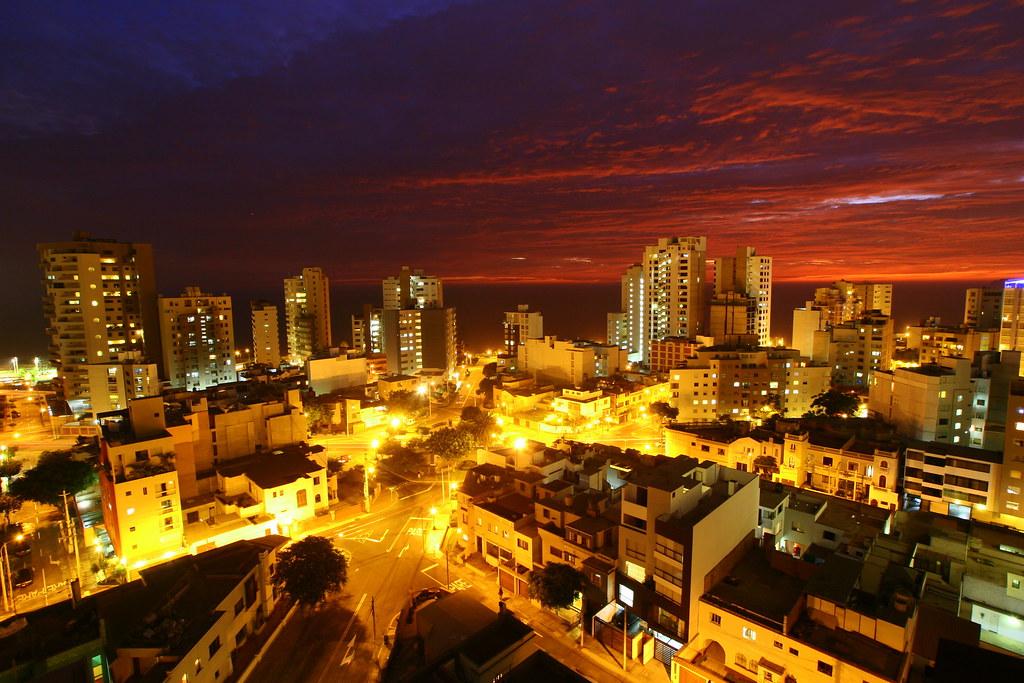 Lima Night Miraflores Balcony View Flickr