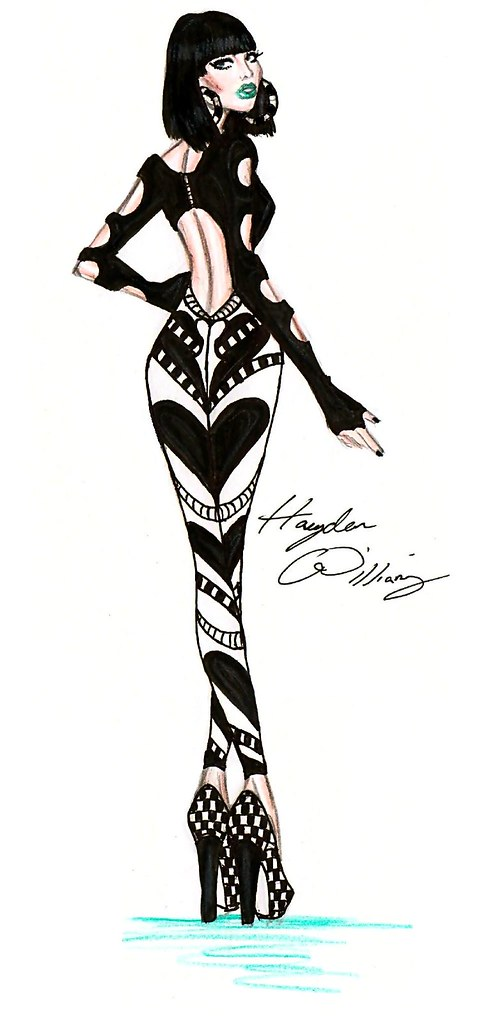 Jessie J Fashion Illustration By Hayden Williams Flickr
