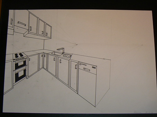 Two Point Perspective Kitchen images
