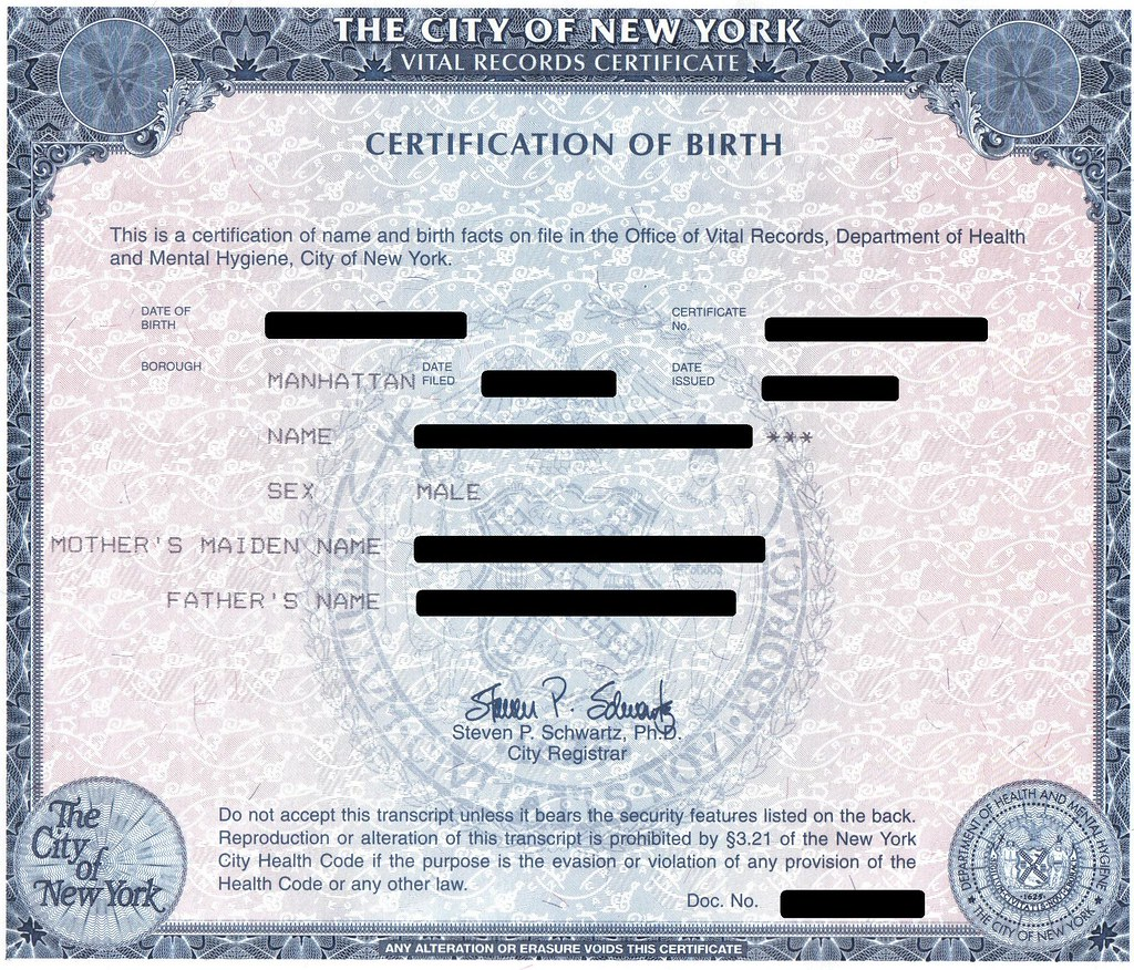Nyc birth certificate jules104 flickr nyc birth certificate by jules104 nyc birth certificate by jules104 aiddatafo Images