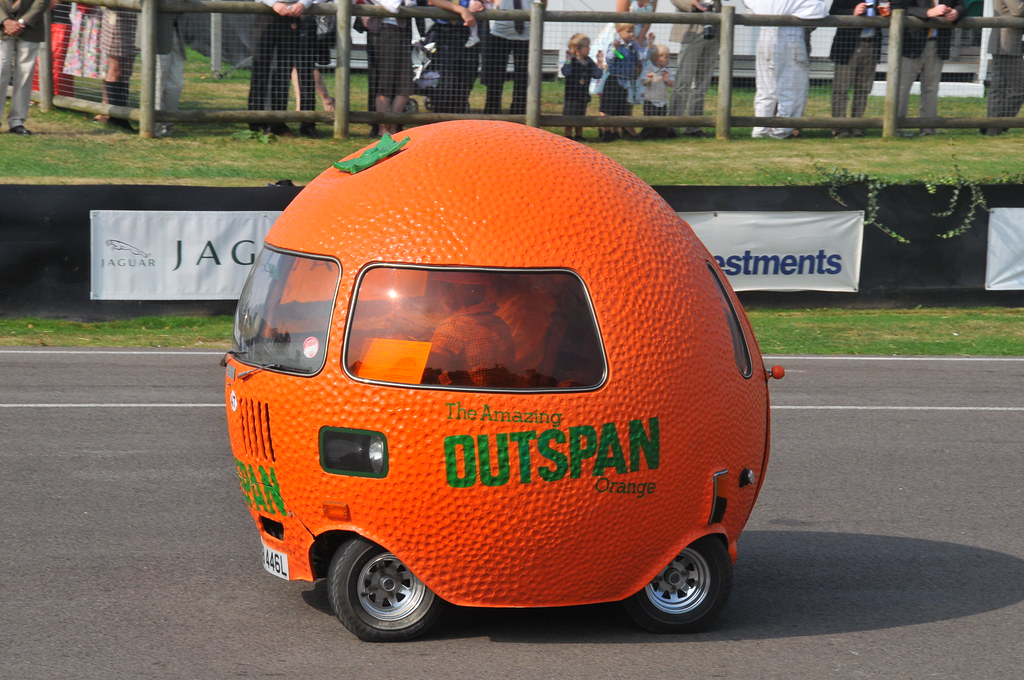 Outspan Orange Car Outspan Orange Car At The Goodwood