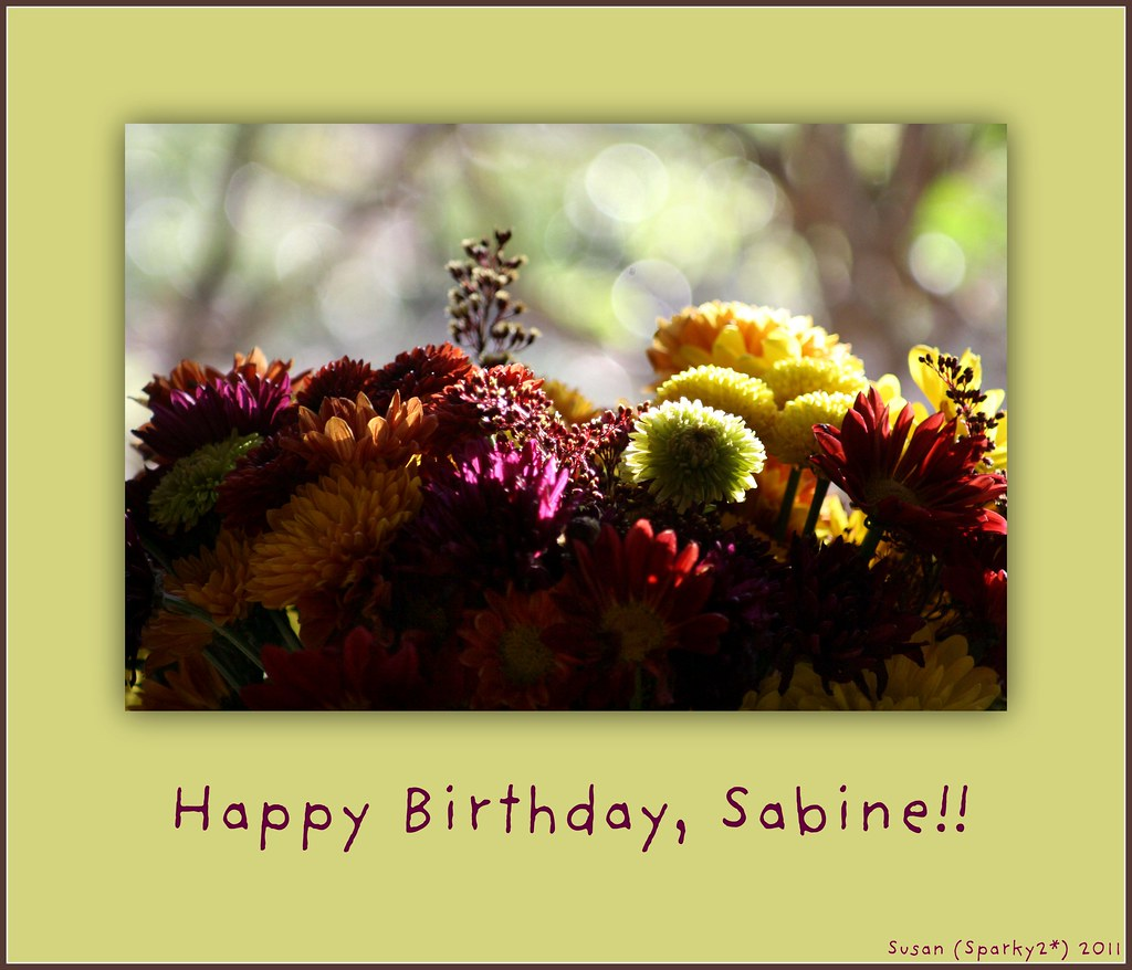 Happy Birthday Sabine Ive So Enjoyed Your Presence