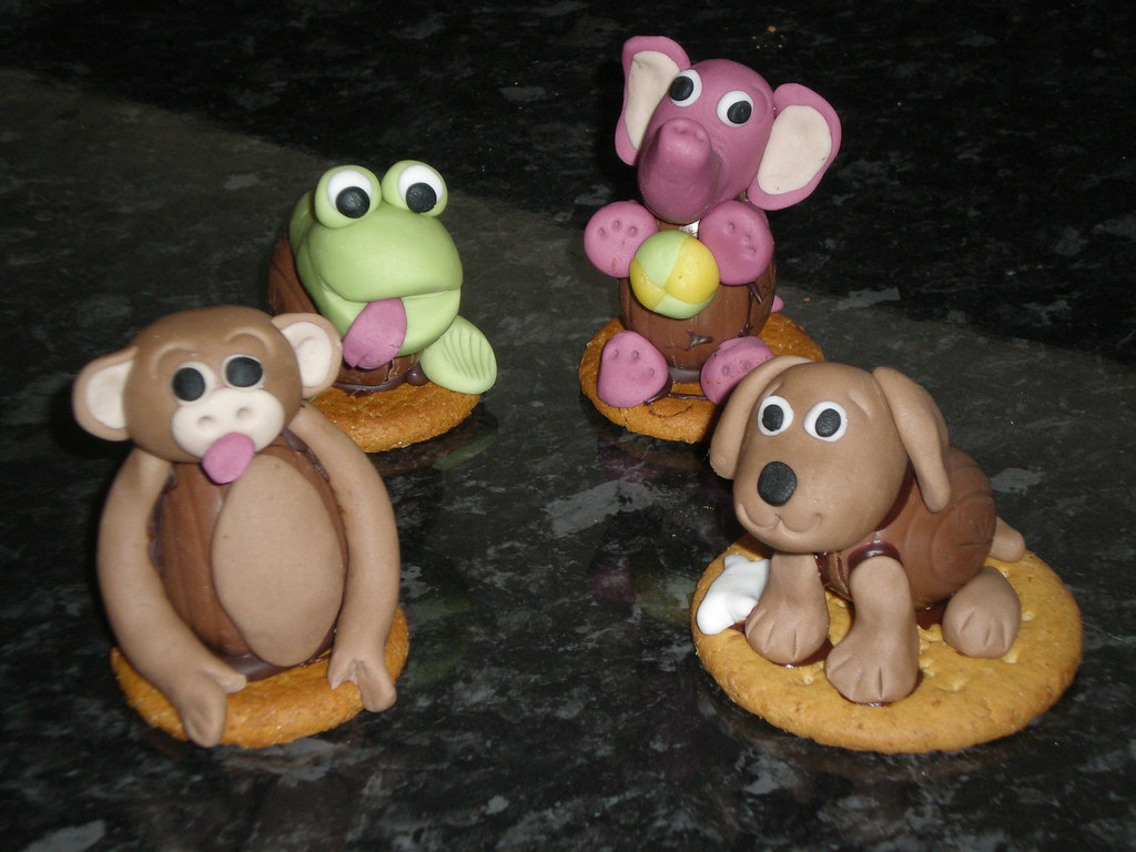 Marzipan Animal Cake Toppers
