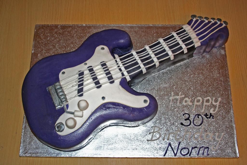 Electric Guitar Cake Pan