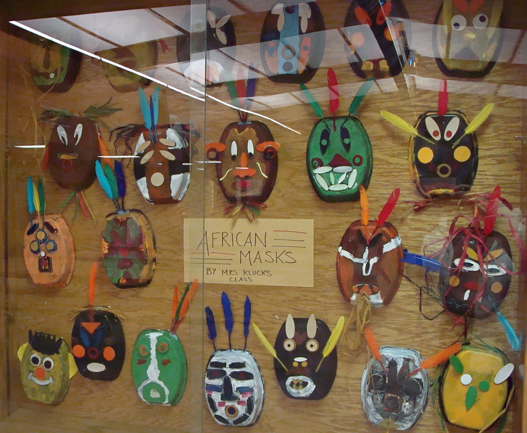 African Masks By 4th Grade We Are All About Upcycling In
