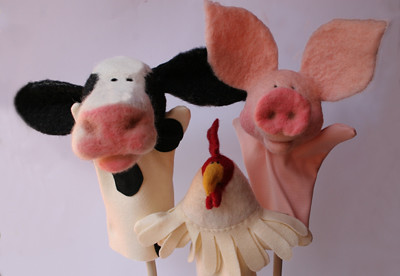 needle felted barnyard animals | by Textile Art/Needle Felting
