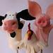 needle felted barnyard animals