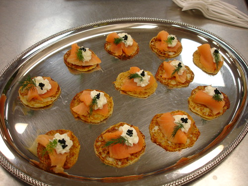 Garde Manger: Potato Crepes with Creme Fraiche and Caviar | Flickr ...