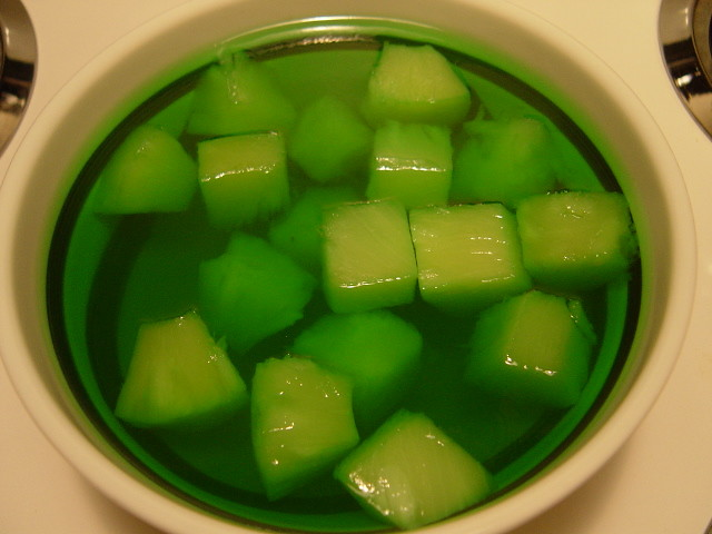 Lime Jello With Pineapple Chunks Jeffery Loo Flickr