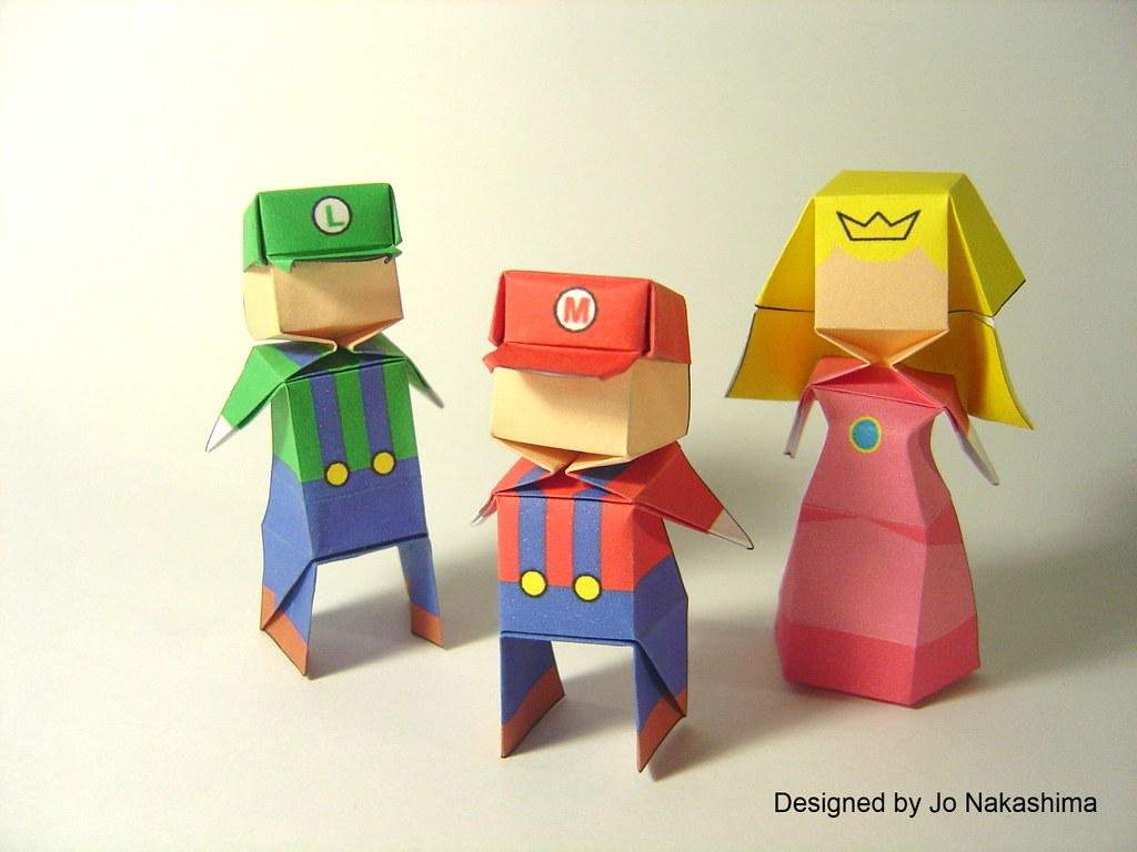 Origami | Origami Little Boy and Little Princess designed ... - photo#29