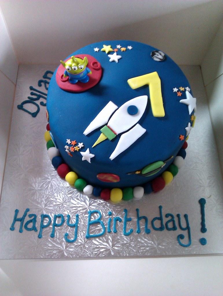 Space Rocket Birthday Cake