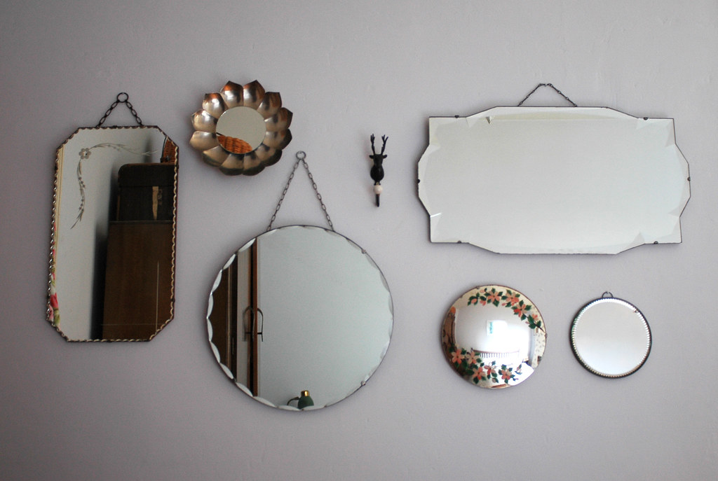 15 Inspirations Large Frameless Bathroom Mirror: Collection Of Vintage Mirrors