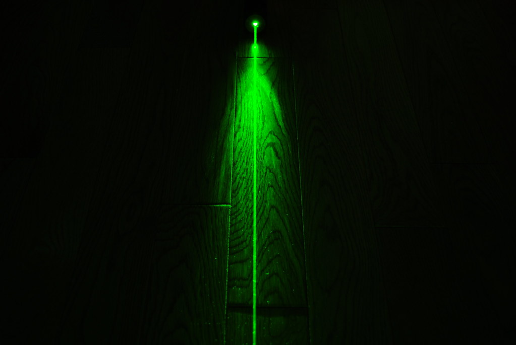 High Power Green Laser Dark Background 2 Another Shot