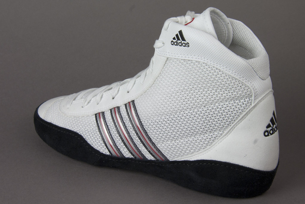 Adidas Combat Speed Iii White Wrestling Shoes