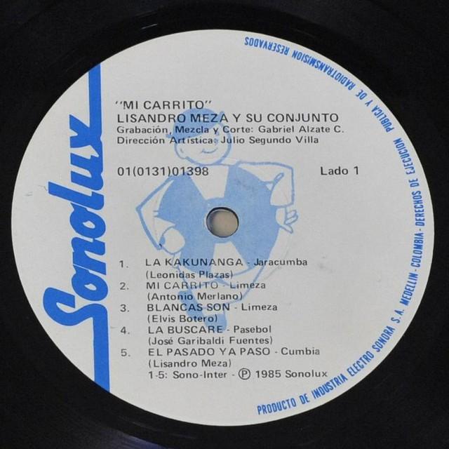 "LISANDRO MEZA - MI CARRITO 12"" LP"