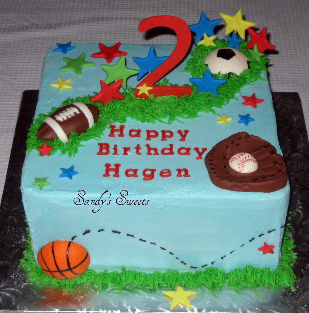 Cake Arch Balloon Design : Sports Ball Birthday Cake Thanks brucakes for the ...