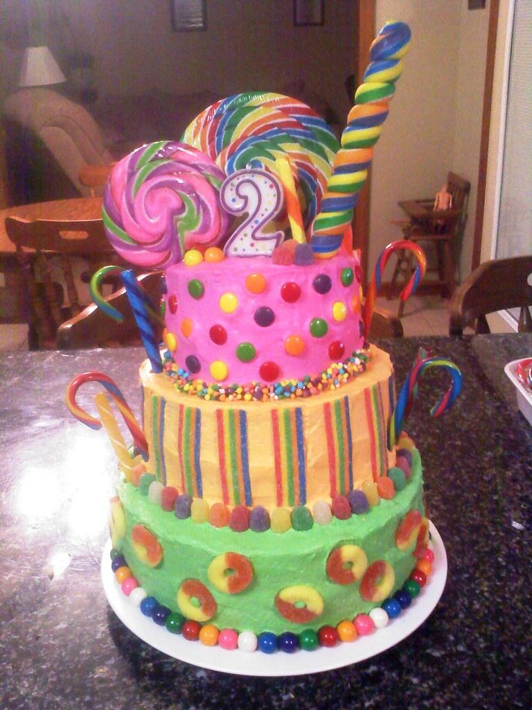 Sweets Birthday Cake Images : Candy Birthday theme cake AmyLiz Designs Flickr