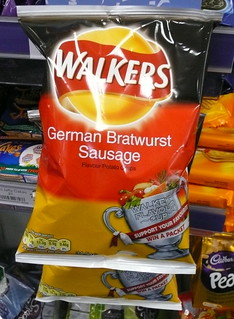 German bratwurst sausage crisps | by Scorpions and Centaurs