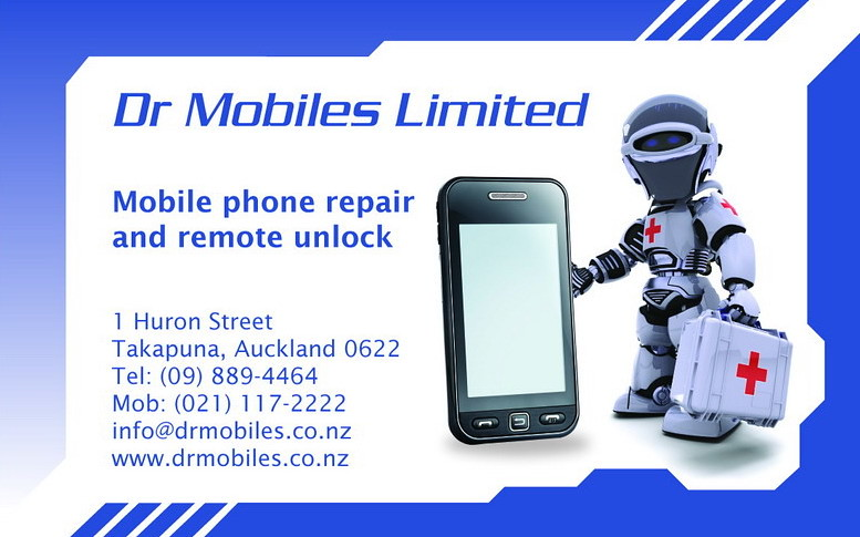 Business card for professional mobile phone repair and unl for Cell phone repair business cards