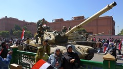 Tank in front of the Egyptian Museum