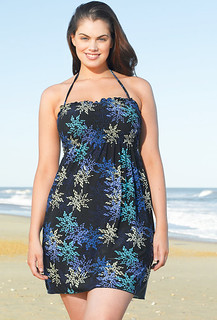 Trendy & Chic Coverage Blue Stars Smock Dress by Beach Belle® | by swimsuitsforall