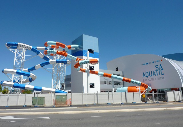 Waterslides at adelaide 39 s new aquatic centre at marion for Pool show adelaide