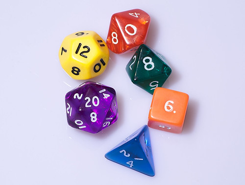 Typical role playing game dice | by aranarth
