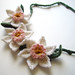 Crochet Pink Daffodil Necklace