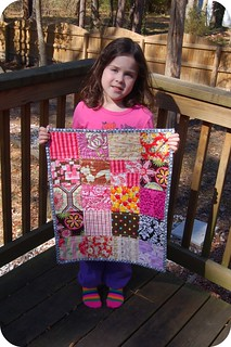 Bevin & her mini quilt | by j_q_adams