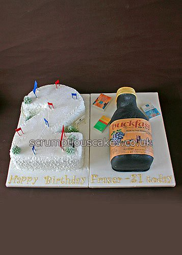 Birthday Cake 703 Skiing And Buckfast This Cake Was