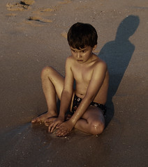 The Boy, sunset, Floreat Beach