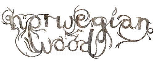 Norwegian Wood typography | by Heidi Burton / Making Strangers