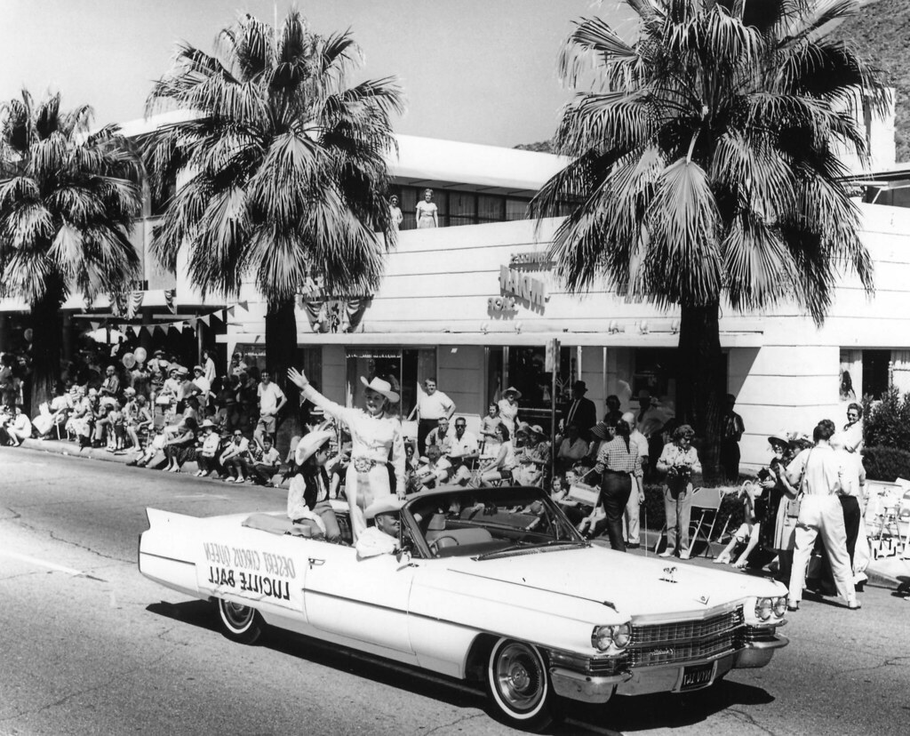 Lucille ball as grandmaster of the western days parade in for The lucy house palm springs