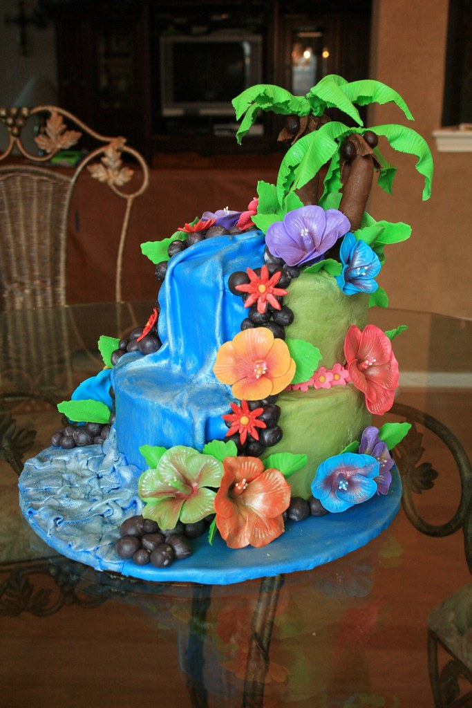 Hawaii Theamed Birthday Cake April Wallace Cakes Flickr