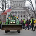 Farmers circle the Capitol on their tractors--TRACTORCADE!