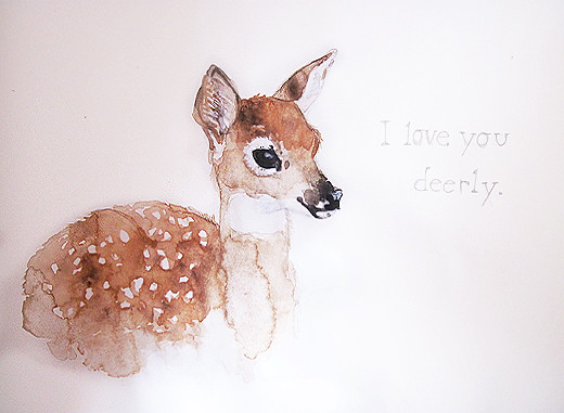 1000  ideas about Watercolor Deer on Pinterest | Watercolor ...