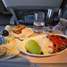 Main for dinner onboard Air New Zealand